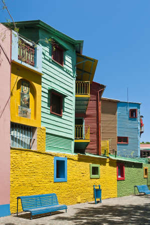 edifices: Colorful houses at Caminito street in La Boca, Buenos Aires