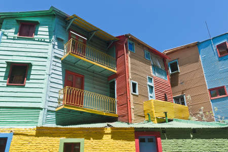 la boca: Colorful houses at Caminito street in La Boca, Buenos Aires