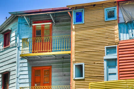 famous place: Colorful houses at Caminito street in La Boca, Buenos Aires