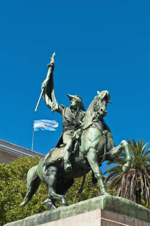 argentinian flag: Monument of Manuel Belgrano, creator of the Argentinian flag.