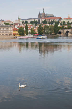 seem: Vltava river as seem from Rasinovo Street