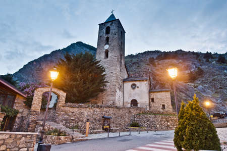 sant: Sant Serni romanic church located at Canillo, Andorra Stock Photo