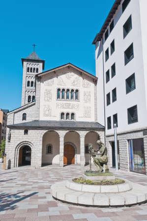 tourism in andorra: Sant Pere Martir church facade at Escaldes-Engordany, Andorra