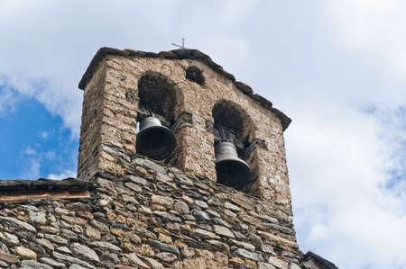 tourism in andorra: Sant Serni romanic church located at Llorts, Andorra Stock Photo
