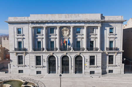 episcopal: Episcopal Palace building facade located at Avila, Spain Editorial