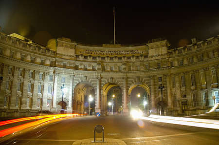 Edwardian monument Admiralty Arch designed by Aston Webb in honour of Queen Victoria in 1910.