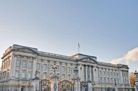 buckingham palace: Buckingham Palace main entrance at London, England