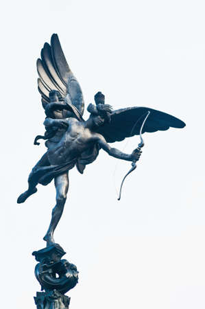 piccadilly: Eros Statue on Piccadilly Circus at London, England