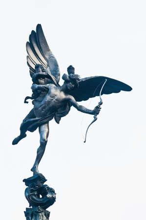 eros: Eros Statue su Piccadilly Circus a Londra, Inghilterra Archivio Fotografico