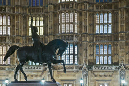 Richard 1st statue near the Houses of Parliament at London, England Stock Photo - 12926332