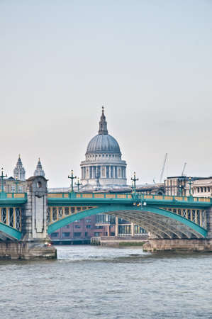 blackfriars bridge: Blackfriars Bridge across Thames River at London, England