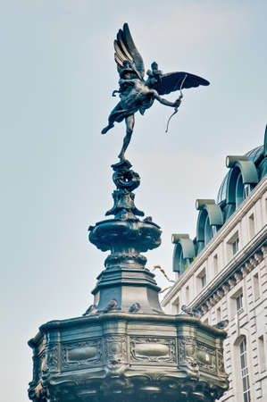 eros: Eros Statue on Piccadilly Circus at London, England