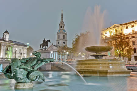 Trafalgar Square located at London, England