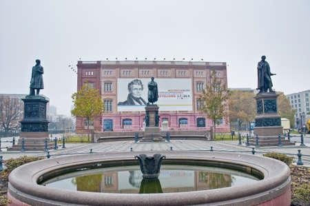 friedrich: Schinkelplatz square named after the Prussian architect Karl Friedrich Schinkel at Berlin, Germany
