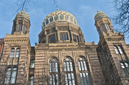 The Neue Synagoge (New Synagogue) is the main synagogue of the Berlin Jewish community. Stock Photo - 13315778
