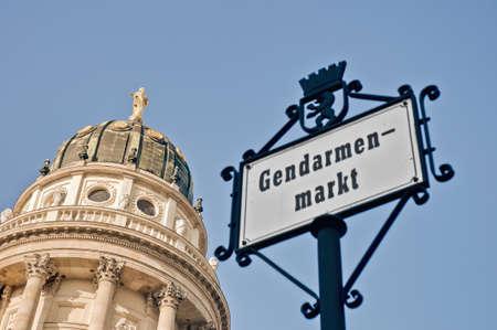 Gendarmenmarkt (Gendarmes Market) south side and Deutscher Dom at Berlin, Germany Stock Photo - 13413903