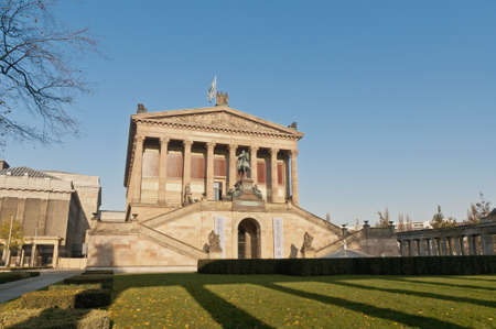 alte: Alte Nationalgalerie  Old National Gallery  located on Museum Island, Berlin, Germany