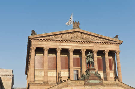 alte: Alte Nationalgalerie (Old National Gallery) located on Museum Island, a UNESCO-designated World Heritage Site on Berlin, Germany