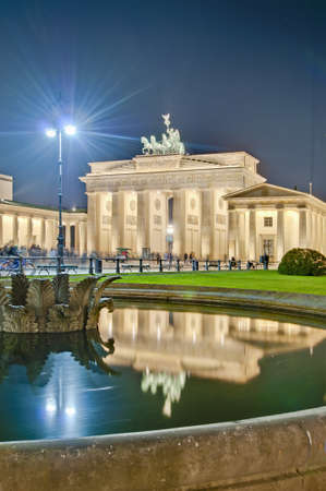 platz: The Pariser Platz (Paris Square) on the east side of the Brandenburg Gate at Berlin, Germany