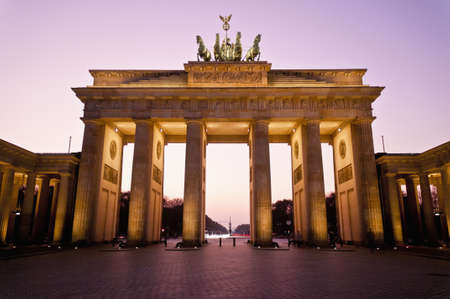 The Brandenburger Tor (Brandenburg Gate) is the ancient gateway to Berlin, Germany Stock Photo - 13892285