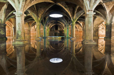 Manueline Cistern reflection at El-Jadida, Morocco Фото со стока