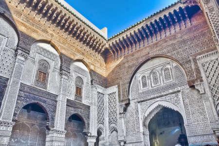 El-Attarin Madrasa court at Fez, Morocco