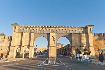 Imperial City main entrance door at Meknes, Morocco