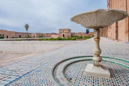incomparable: El Badi Palace main Yard at Marrakech, Morocco Editorial