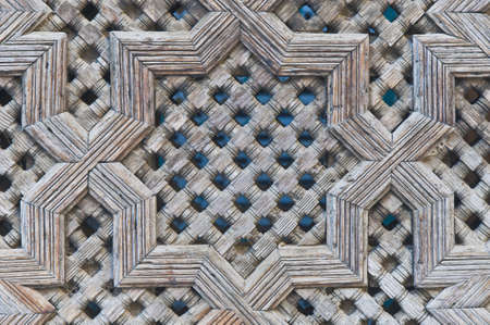 fas: Bou Inania Madrasa architectural detail at Fez, Morocco