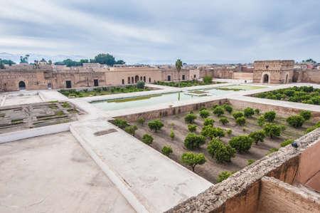incomparable: El Badi Palace gardens located at Marrakech, Morocco