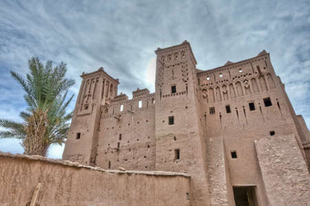 fortified: Narrow Ait Ben Haddou streets at Morocco Stock Photo