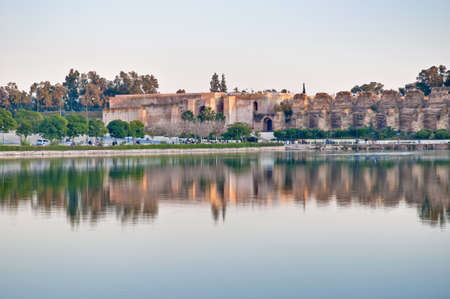 Agdal pond within the Imperial City at Meknes, Morocco
