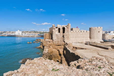 Dar-el-Bahar fortress at Safi on the atlantic coast, Morocco Редакционное