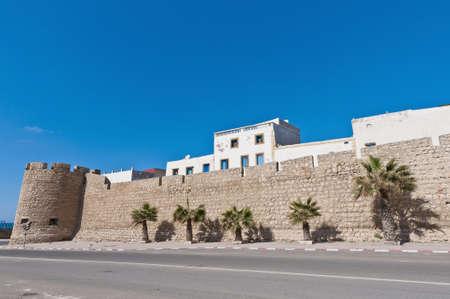defensive: Medina ancient defensive wall at Safi, Morocco Editorial