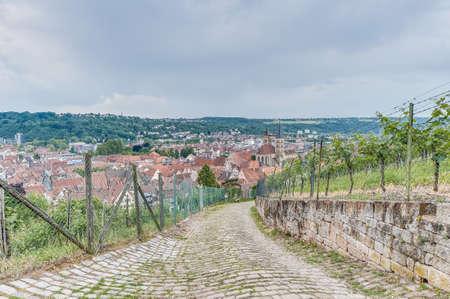 Esslingen am Neckar views from Burgsteige to the Castle (Burg) near Stuttgart, Germany Stock Photo - 17248688