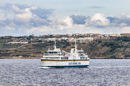 Channel Line Ferry on its way between Gozo Island and Malta