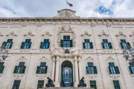 minister: The Auberge de Castille houses the office of the Prime Minister of Malta in Valletta
