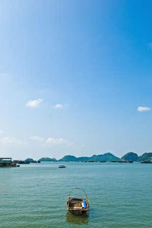aloneness: Small boat left alone.