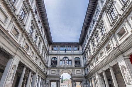 Galleria degli Uffizi (Uffizi Gallery) museum located in Florence, Italy