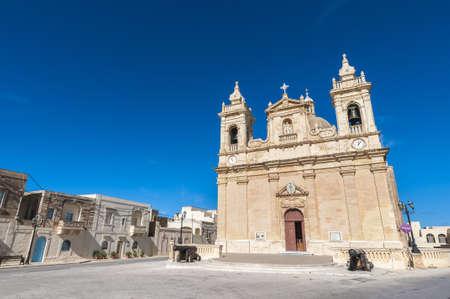 Parish church of Zebbug on the Maltese island of Gozo, Malta Stock Photo - 17652441