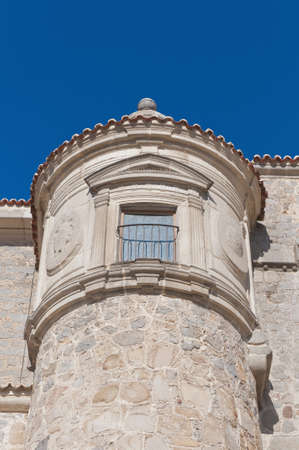 védekező: Defensive walls tower around Avila, Spain