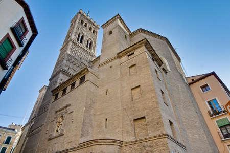 mudejar: Saint Gil Abad Church bell tower at Zaragoza, Spain