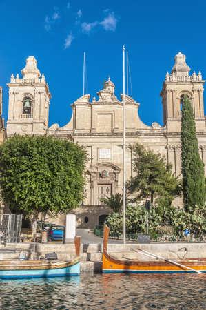 lawrence: Saint Lawrence Collegiate church in Vittoriosa (Birgu), Malta Stock Photo