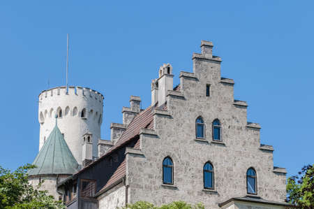 Neo-Gothic knight's Lichtenstein Castle at the swabian region of Baden-Wurttemberg, Germany Stock Photo - 18328293