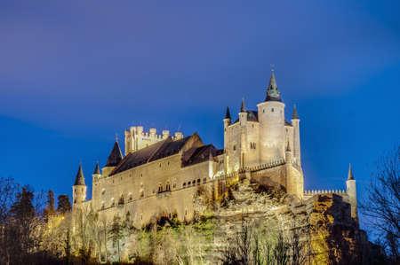 Alcazar of Segovia located at Castile and Leon, Spain
