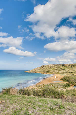 Ramla Bay, located on the northern side of the Maltese island of Gozo. photo