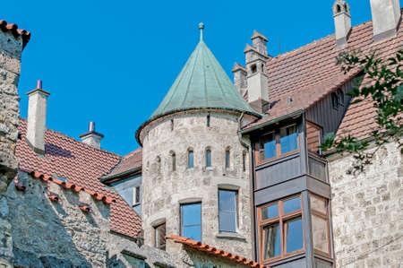 swabian: Neo-Gothic knights Lichtenstein Castle at the swabian region of Baden-Wurttemberg, Germany