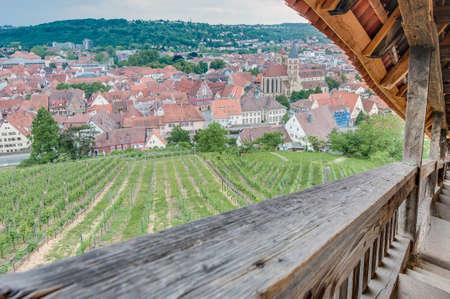 burg: Esslingen am Neckar views from the stairs (Burgstaffel) to the Castle (Burg) near Stuttgart, Germany