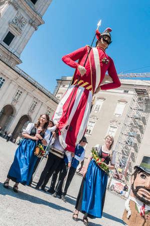 dult: SALZBURG, AUSTRIA - MAY 26: Salzburger Dult Festzug parade celebration on May 26, 2012 in Salzburg, Austria.