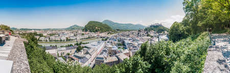 Salzburg skyline as seen from the Monchsberg viewpoint, Austria photo